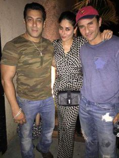 Bollywood superstar Salman Khan was clicked while partying with his co-star Kareena Kapoor Khan and her hubby Saif Ali Khan. Saif Ali Khan, Salman Khan, Bollywood Updates, Bollywood News, Ek Tha Tiger, Kabir Khan, Kareena Kapoor Khan, Photo Story, Bollywood Celebrities