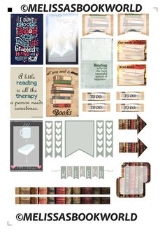Free Printable Books Planner Stickers