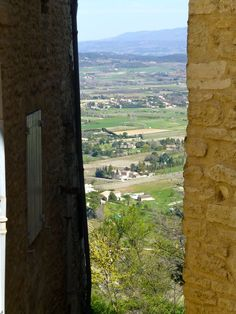 Luberon Valley peek from Gordes, Provence, France - June 2013