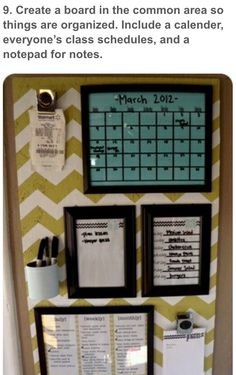 Pin or glue picture frames to a decorative cork board for memos. You can also pin or glue clips to clip memos, cups to hold supplies, or just pins to hold things.