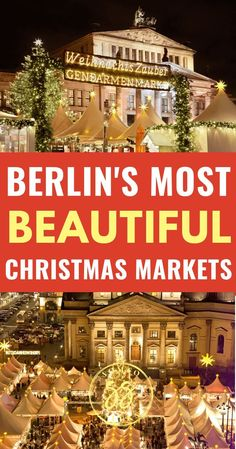 This a guide to the 3 best Christmas markets in Berlin to visit in winter Find out what makes these Christmas markets among the best in Germany. Berlin Christmas Market, Christmas In Germany, German Christmas Markets, Christmas Markets Europe, Christmas Travel, Holiday Travel, Germany In Winter, Christmas Getaways, Holiday Market