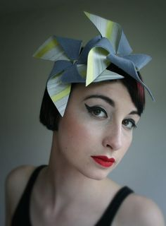 Felt and fabric 'windmill' headpiece | William Chambers Millinery | 2007/2008 Collection