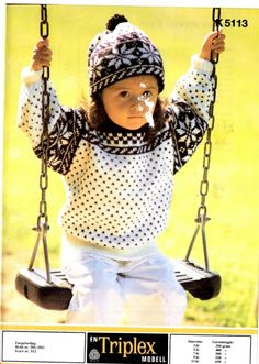 k 5113 Norwegian Knitting, Barn, Crochet Hats, Children, Sweaters, Fashion, Knitting Hats, Young Children, Moda
