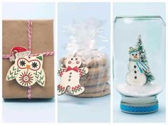 Super cute Handmade Charlotte Bucilla Wood Stitchables needlecraft kit - learn how easy these are to stitch! so cute for Holiday and Christmas Ornaments and decor