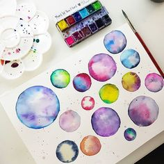 Enjoying some practicing my beloved watercolours  with @janedavenport paints  #watercolorfun #watercolorlove #watercolor #watercolour #janedavenport #janedavenportmixedmedia #maremismallart #painting #paint #onmydesk #craft #createdaily #paintdaily #galaxypainting