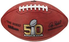 Denver Broncos Football Wilson Super Bowl 50 Official Full Size with Team Names Special Order Football Super Bowl, Denver Broncos Football, Nfl Superbowl, Anniversary Games, Golden Anniversary, Football Officials, Football Memorabilia, Sports Marketing, Super Bowl Sunday