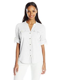 731eb79615ea31 46 Best Calvin Klein Blouses   Button-Down Shirts For Women images ...