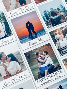 Photo Save the Date Magnets with Custom Fonts and Colors   Etsy