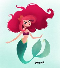 "zamaconam: "" A Brittany Lee inspired Ariel for mermay! """