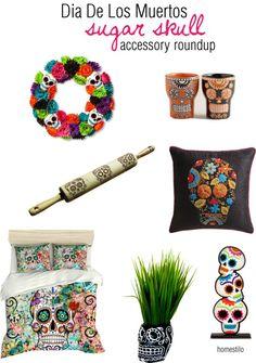 day of the dead | sugar skull | day of the dead home accessories | dia de los muertos cosas para la casa | cultura mexicana | latin culture | interior design | interior decor