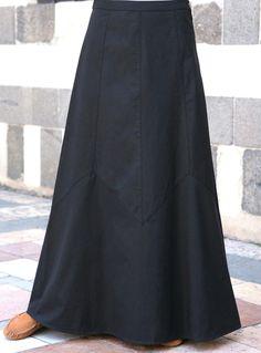 SHUKR Nuzhah Skirt   Perfectly flared long casual skirt