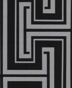 Manhattan Comfort Bristol Paper-backed Vinyl x Geometric Maze Wallpaper (Black and Silver) 4 Wallpaper, Glitter Wallpaper, Striped Wallpaper, Wallpaper Panels, Geometric Wallpaper, Pattern Wallpaper, Contemporary Wallpaper, Designer Wallpaper, Black Silver