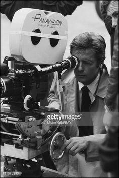 "Alain Delon at the Filming of movie ""Pour la peau d'un flic'' in France in 1977 - Alain Delon, Film, Classic Hollywood, Actors & Actresses, Portraits, France, Photos, Movies, Celebrity Photos"
