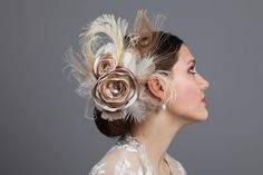 nude & cream - gorgeous fascinator