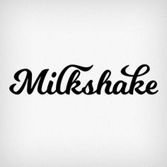 """Milkshake is a thick, substantial script designed to become a favorite treat. Laura set out to """"create a design that would be friendly, readable, and versatile. I wanted it to be memorable, but still be a workhorse of a script font. Free Cursive Fonts, Handwriting Fonts, Free Typography Fonts, Improve Handwriting, Fancy Fonts, Cool Fonts, Hand Type, Stencil, Cards"""