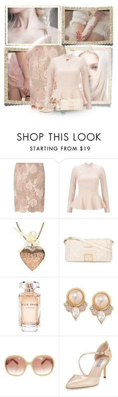 """""""Pretty in Pale"""" by pinkystyle ❤ liked on Polyvore featuring Dorothy Perkins, Miss Selfridge, Love Moschino, Elie Saab, Carolee, MaxMara and SJP"""