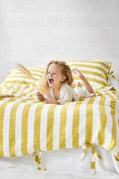Luxury Bedding Sets For Less Linen Bedroom, Linen Duvet, Linen Pillows, Bed Linens, Yellow Bedding, Bedding Sets, Neutral Bed Linen, Linen Sheets, Bed Sheets