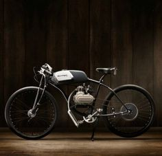 Bicycle with motor.