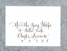 Hand calligraphy addressing by lilflower on Etsy