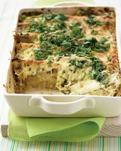 Chicken Enchiladas with Creamy Green Sauce - Martha Stewart Recipes
