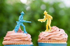 Cowboy cupcakes!