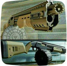 Nice home defense shotgun. Military Weapons, Weapons Guns, Guns And Ammo, Military Soldier, Tactical Shotgun, Tactical Gear, Firearms, Shotguns, Concept Weapons