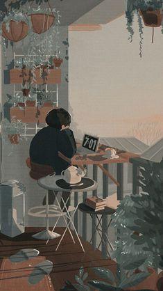 Anime Backgrounds Wallpapers, Anime Scenery Wallpaper, Aesthetic Pastel Wallpaper, Cute Cartoon Wallpapers, Animes Wallpapers, Aesthetic Art, Aesthetic Anime, Arte 8 Bits, Japon Illustration