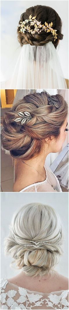 Outstanding Wedding Hairstyles Hair Comes the Bride 20 Bridal Hair Accessories Get Style Advice for Any Budget See more: www.weddinginclud The post Wedding Hairstyles Hair Comes the Bri . Elegant Wedding Hair, Wedding Hair And Makeup, Wedding Looks, Trendy Wedding, Unique Wedding Hairstyles, Bride Hairstyles, Strapless Dress Hairstyles, Corte Y Color, The Bride