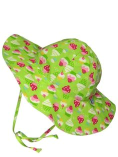 The biggest sun hat I could find!  i play. Baby-Girls Infant Brim Sun Protection Hat-Classic, Lime, 2-4 Years