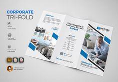 Corporate Tri Fold Brochure by MRI STUDIO on @creativemarket