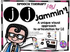 Speech Therapy... Here is the [j] [j] Jammin Activity which is a unique and visual approach to articulation for [J] // . I found this activity effective for students who have extreme difficulty producing the [j] (//) sound. These activities use a graphic organizer visual and singles out the [j] sound.