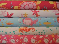 Mermaid Rag Quilt Kit, Easy to Make, Personalized, Bin A by beffie48 on Etsy