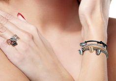 Anelli e bracciali collezione Keep Out in argento 925