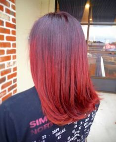 Fall is in the Hair. Bright Hair Colors, Different Hair Colors, Fall Hair Colors, Pretty Hair Color, Hair Color Purple, Red Balayage, Balayage Highlights, Hair Colorist, Haircolor