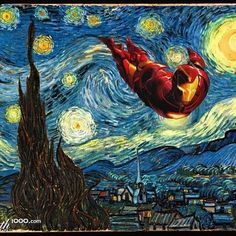 Iron Man - Starry Night Parody