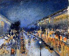 Pissaro. Boulevard Montmartre, effet de nuit (1897).