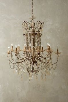 Anthropologie Draped Bijoux Chandelier