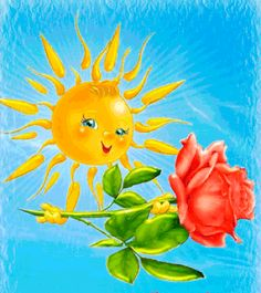Sky Sunset, Gifs Lindos, Good Morning Sister, Happy Smiley Face, Morning Rose, Good Day Sunshine, Funny Character, Good Morning Greetings, Cloudy Day