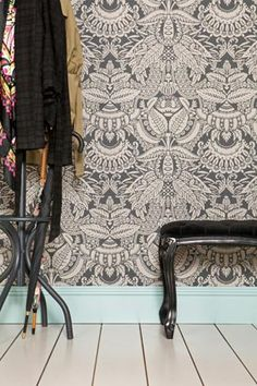 Orangerie is from The Baroque Papers collection and is bursting with extravagant detail encapsulating exotic leaf patterns interspersed with flowers and fruit such as the central pineapple motif.