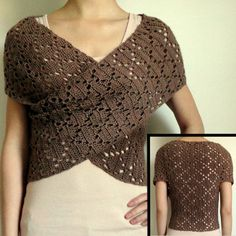 Diamond Eyelet Wrap Sweater - PDF Crochet Pattern. $5,95, via Etsy.