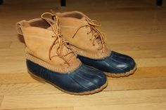 Womens Navy Blue L L Bean Duck Hunting Boots Size 9 Wide | eBay