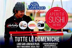 eventi 2015: aperitivo sushi www.lidosanlorenzo.com