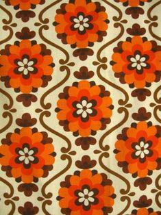 thegroovyarchives:  Vintage 70's Fabric via Miss Do Dat on Pinterest