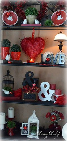 Dining Delight: Valentine Vignettes on the Etagere