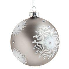 Boule de Noël D 8 cm FLEURS GRAPHIQUES