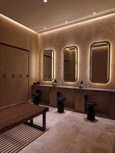 Select from our Spa integrated circuits that include cryotherapy or infrared sauna, or quantum harmonics session + massage and bodywork or skin therapies. Gym Interior, Interior Design, Building Foundation, Hotel Gym, Padded Wall, Hudson Yards, Changing Room, Great Hotel, Sauna