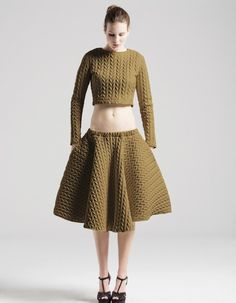 quilted skirt - in braid style by the unseen limited