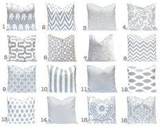 Gray Pillows Throw Pillows Gray Pillow Covers by FestiveHomeDecor