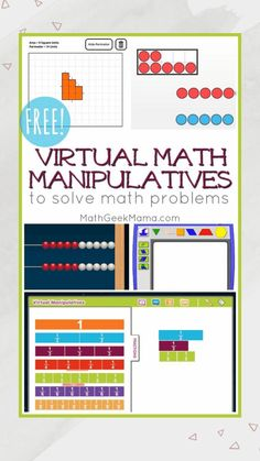 Do you need a virtual tool to help your kids solve math problems? This post includes 25 online math manipulatives to help kids visualize math problems. Maths Guidés, Math Classroom, Teaching Math, Google Classroom, Teaching Technology, Math Math, Flipped Classroom, Technology Integration, Math Resources