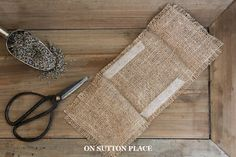 Make It! | Burlap Lavender Sachet | A No Sew Tutorial from On Sutton Place